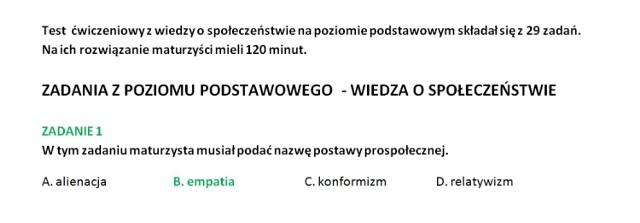 Próbna matura 2014: WOŚ