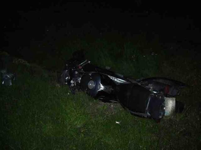 Wypadek motocykla obwodnica Żory