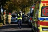 Wypadek w Trzcianach. Poszkodowanego zabrał śmigłowiec LPR. Znamy ustalenia policji [zdjęcia]