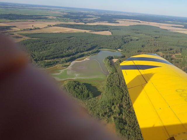 Na zdjęciu widoczne jest znikające Jezioro Żabiniec.