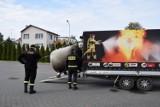 Pruszcz Gd.: Strażacy szkolili się na wypadek zdarzenia z cysterną przewożącą niebezpieczne materiały [ZDJĘCIA]