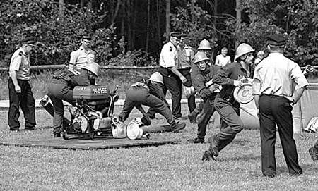 Ćwiczenia bojowe były atutem naszych zespołów.