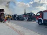Groźny pożar tartaku w Bystrej Podhalańskiej