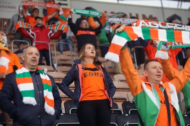Pierwszy mecz z kibicami w Polsce, Zagłębie wygrało z ŁKS-em.