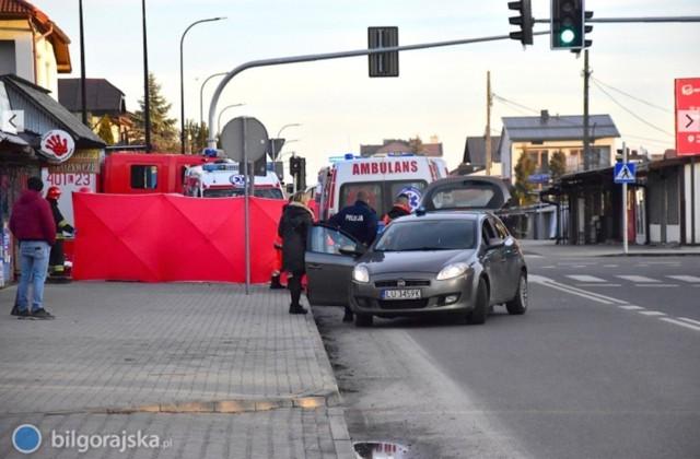 Do wypadku doszło na skrzyżowaniu ul. Komorowskiego i ul. Bohaterów Monte Cassino w Biłgoraju