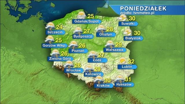Jaka będzie pogoda w poniedziałek, 12 lipca