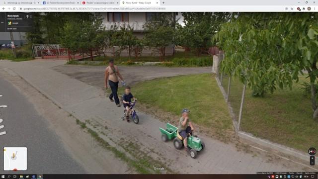 Mieszkańcy gminy Kiernozia na Google Street View. Kogo złapała kamera?