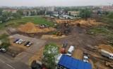 Na pętli Słonecznej w Katowicach powstanie 100-metrowy budynek. Teraz to już jeden wielki plac budowy. Zobaczcie ZDJĘCIA