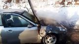 Na DK 87 zapalił się samochód. Było w nim dwoje dzieci