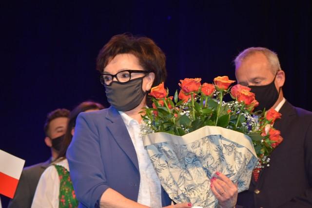 Marszałek Sejmu RP Elżbieta Witek odwiedziła Sieradz