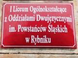Liceum Powstańców Śląskich: Pomysł zmiany imienia szkoły to szarganie świętości