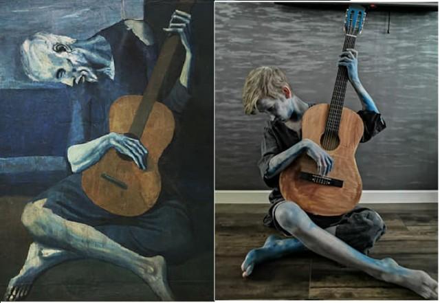 "Arek Guciński ""Stary gitarzysta"" Pablo Picasso"