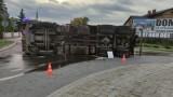 Wypadek ciężarówki w Mrzezinie: droga może być zablokowana przez kilka godzin! | ZDJĘCIA, NADMORSKA KRONIKA POLICYJNA