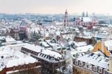 Tak wygląda zimowa panorama Poznania! Zobacz zdjęcia zrobione z wieży Zamku Przemysła