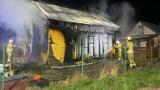 Pożar domku letniskowego w Stegnie. Policja wyjaśnia przyczynę zdarzenia