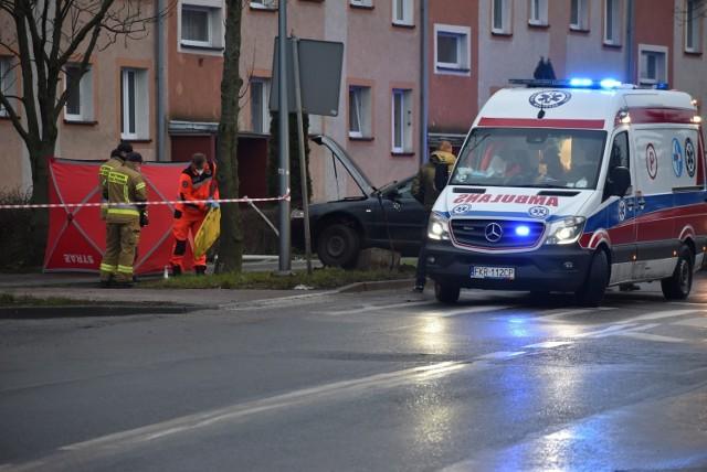 Do wypadku doszło w sobotę (9 stycznia) na ul. Poznańskiej w Krośnie Odrzańskim.