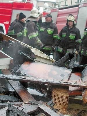 Pożar wybuchł przed siódmą rano. Fot: MAGDALENA CHAŁUPKA