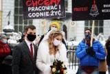 """Protest przedstawicieli branży weselnej w Gdańsku 17.02.2021 r. """"To jest jedna wielka katastrofa"""""""