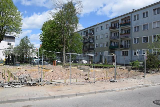 Plac budowy przy ulicy Rzemieślniczej w Szczecinku