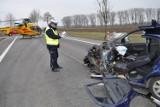Wypadek na krajowej 7. 50-letni kierowca trafił do szpitala [ZDJĘCIA]