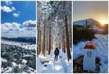 Zimowe Karkonosze w kwietniu. Fani śniegu i białego krajobrazu wędrują po szlakach. Zobacz ich zdjęcia!