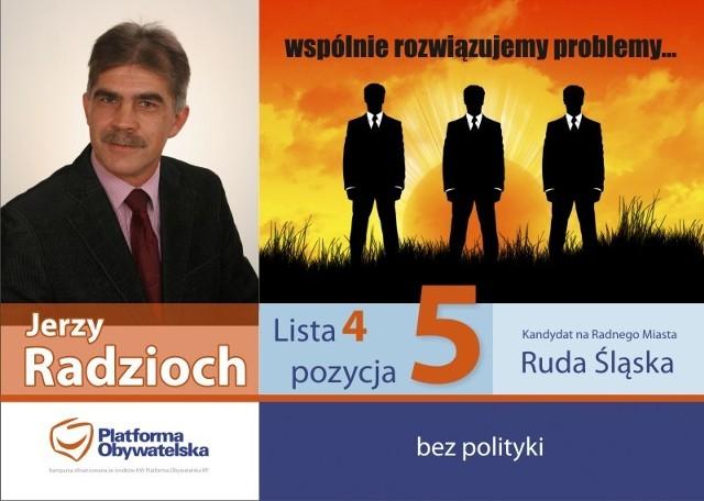 Plakat wyborczy 2010 - proj. Marek Pawłowski, grafik, Chorzów