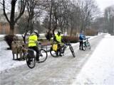 Pośniegowe widoki Słupska na rowerze. Jak się jeździ w taką pogodę? [ZDJĘCIA]