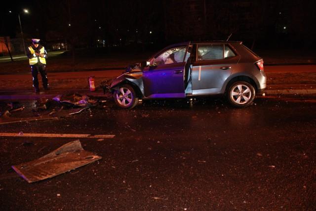 Do wypadku doszło 12 stycznia krótko po północy, na ul. Wieniawskiego w Wałbrzychu