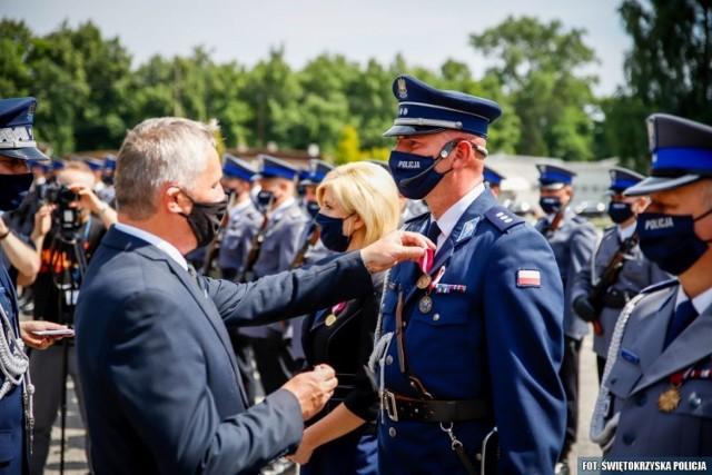 Podczas wojewódzkich obchodów święta policji w Kielcach