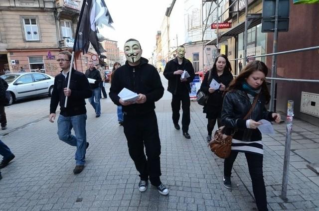 Protest przeciw ACTA w Poznaniu.