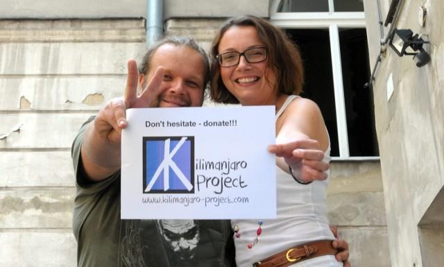 Pomysłodawcami Kilimanjaro Project są trzy osoby: Kamil Haidar oraz Marcin i Małgorzata Szpitun (na zdjęciu)