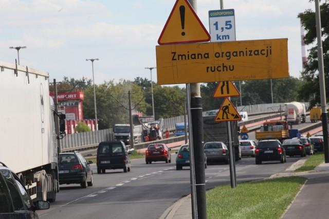 Aleja Jana Pawła II - od niej miała odchodzić Trasa Górna w kierunku ul. Rzgowskiej