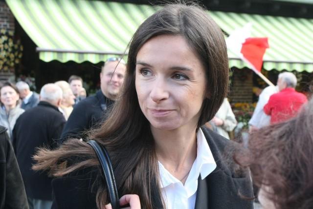 Marta Kaczyńska podczas pogrzebu Anny Walentynowicz