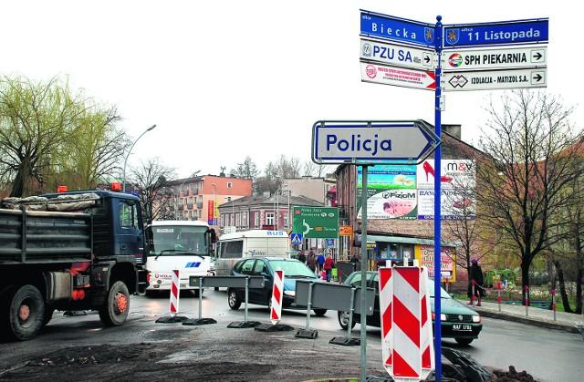 Wczoraj robotnicy weszli na Biecką. Ulica jest rozkopana i zamknięta dla ruchu