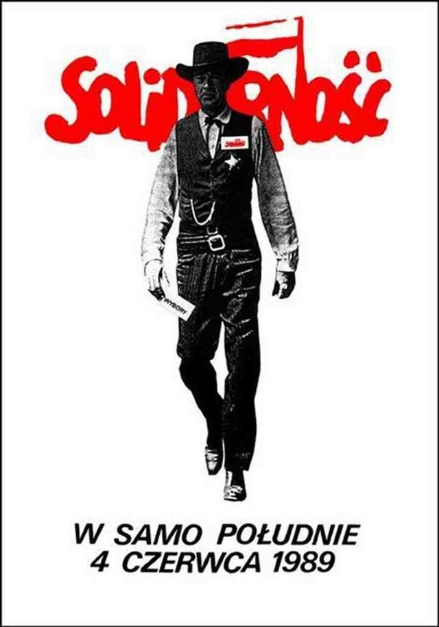 Gary Cooper z legendarnego                         plakatu Tomasza Sarneckiego