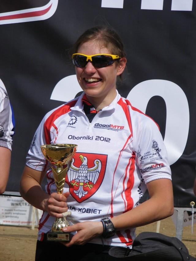 Kilka dni przed startem w Żerkowie Weronika Rybarczyk zdobyła tytuł Mistrzyni Wielkopolski w mtb xc