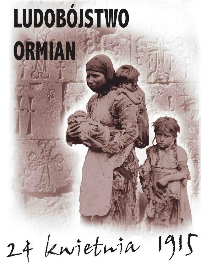 Plakat Tigrana Vardikyana powstał dla upamiętnienia Genocydu Ormian