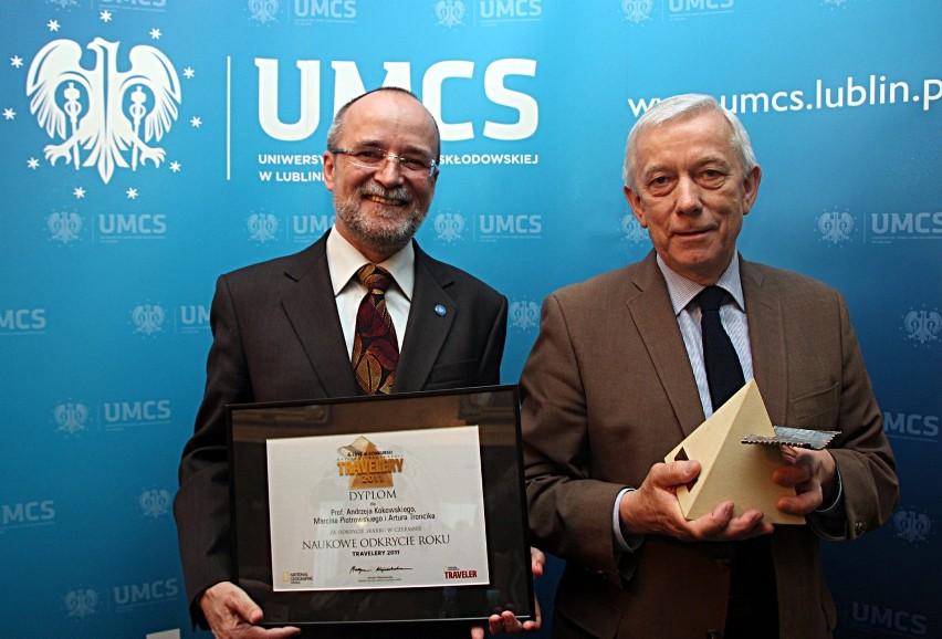 Zwycięzcy (od lewej) prof. Andrzej Kokowski (I miejsce) i prof. Nikodem Grankowski (II miejsce)