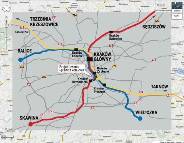 Szybka Kolej Aglomeracyjna W Krakowie Mapa Gazeta Krakowska