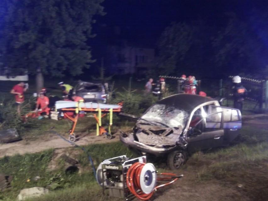 Wypadek w Wólce Rokickiej: Kierowca miał 2,5 promila alkoholu