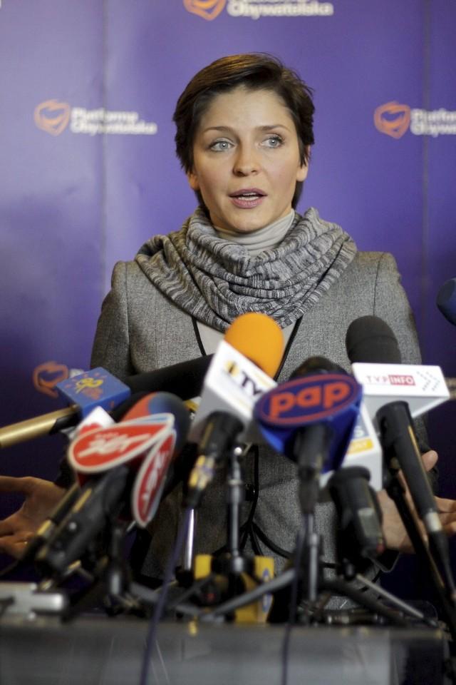 Minister Joanna Mucha na konferencji w Lublinie