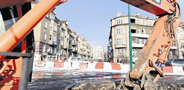 Prace na ulicy grunwaldzkiej sprawiają, że trzęsą się mieszkania w kamienicach w pobliżu