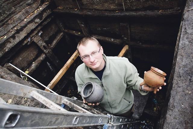 Badania przy ulicy Kleszej prowadzi Krzysztof Dyrda z Muzeum Archeologicznego w Gdańsku