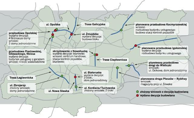 Prywatne Inwestycje Zahamuja Budowe Nowych Tras W Krakowie Mapa