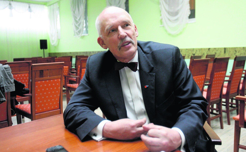 4ab9c147e1353 Geniusz z muchą zamiast krawata. Janusz Korwin-Mikke skończył 70 lat ...