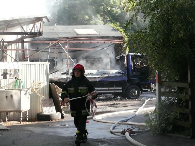 Pożar stolarni na Aleksandrowskiej 169 w Łodzi