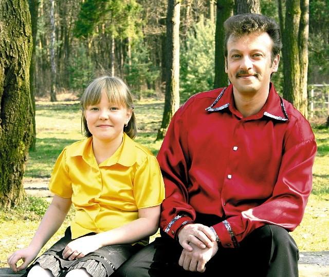 Adam Krawczyk z córką Karoliną