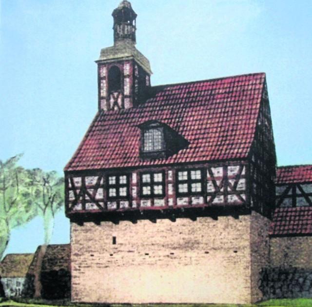 Tak wyglądał zbór luterański zbudowany w 1741 r. w Skarszewach (obecna ulica Szkolna)