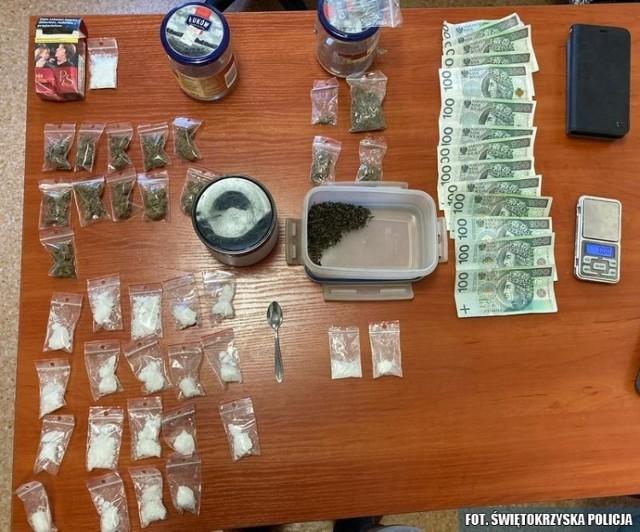 Pieniądze i narkotyki przejęte przez starachowickich policjantów