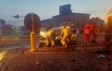 Wypadek w Siewierzu na DK1. Zderzenie osobówek, jest ranna osoba